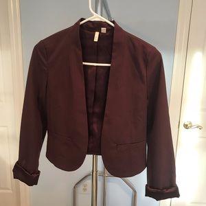 Nordstrom Burgundy Cropped Blazer